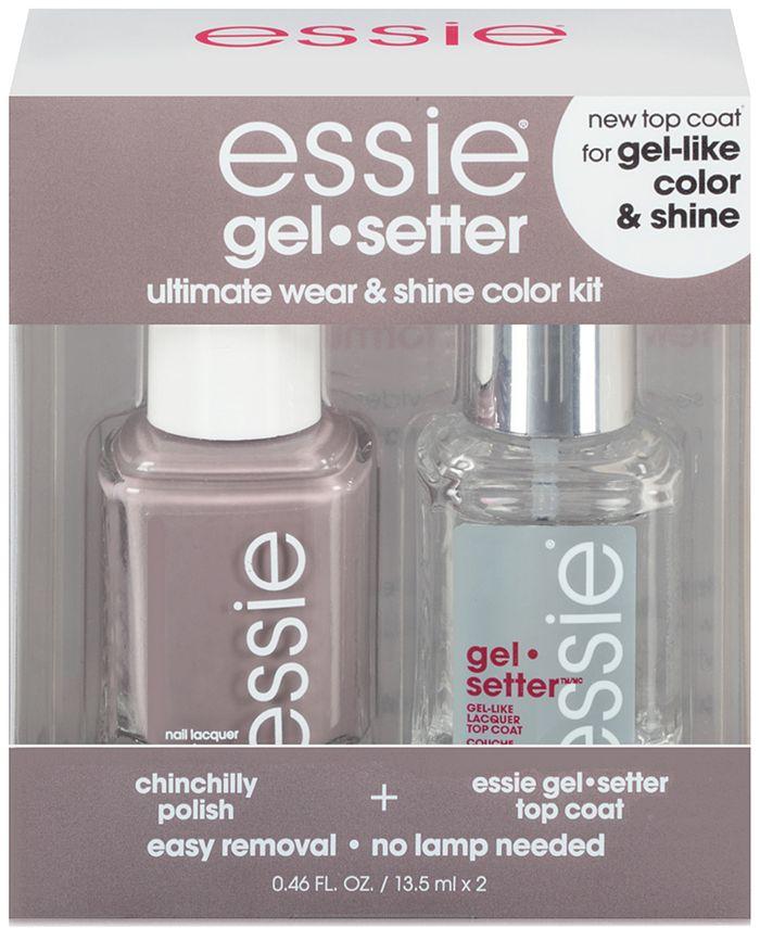 Essie - essie gel-setter duo kits, chinchilly