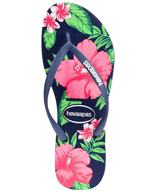 Havaianas Women s Slim Floral Flip Flops - Sandals   Flip Flops ... 63bace3479