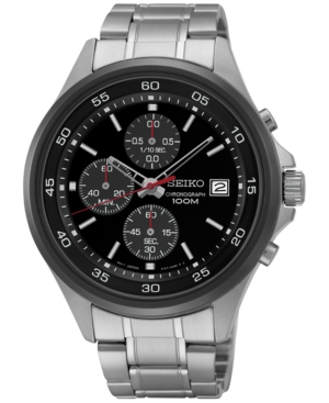 Seiko Men's Chronograph Stainless Steel Bracelet Watch 43mm