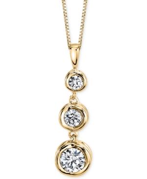 Sirena Energy Diamond Three-Stone Pendant Necklace (1/4 ct. t.w.) in 14k Yellow or White Gold -  Macy's