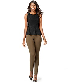 INC Faux-Suede Peplum Top & Ponte Skinny Pants, Created for Macy's
