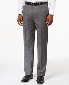 Tommy Hilfiger Solid Grey Modern-Fit Dress Pants