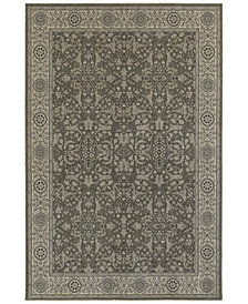 "Oriental Weavers Richmond Floral Sarouk Grey/Ivory 3'10"" x 5'5"" Area Rug"