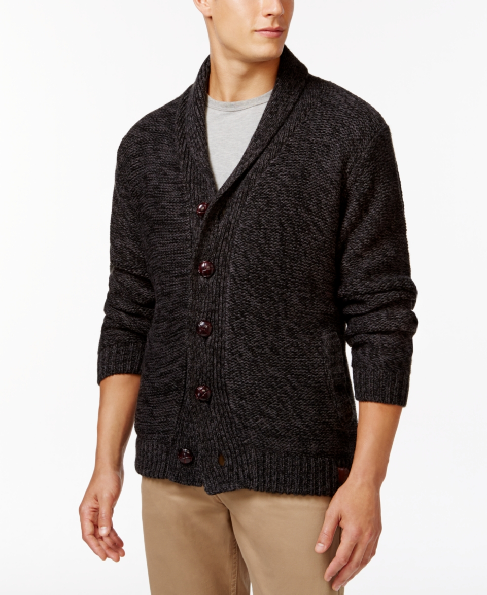 75e8aac7548438 Weatherproof Vintage Shawl Collar Cardigan Sweaters Men on PopScreen