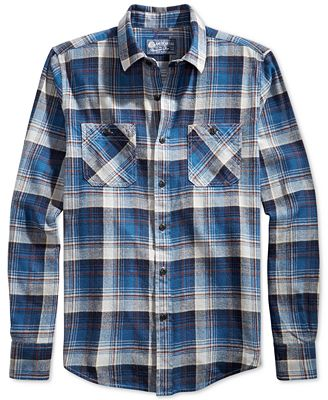 American Rag Men's Plaid Flannel Shirt, Created for Macy's ...