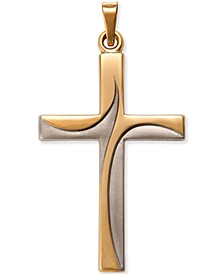 Two-Tone Cross in 14k Gold and 14k White Gold