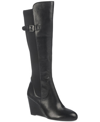 franco sarto obelisk to the knee wedge boots boots