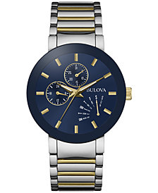 Bulova Men's Two-Tone Stainless Steel Bracelet Watch 40mm 98C123