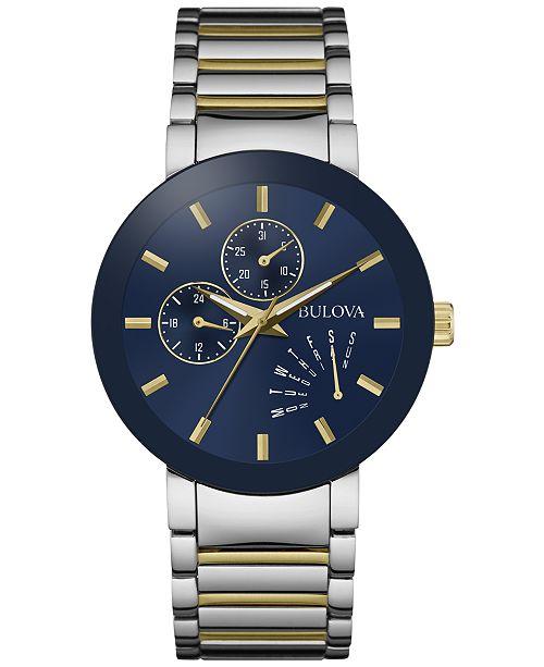 482e96b5d35 ... Bulova Men s Futuro Two-Tone Stainless Steel Bracelet Watch 40mm 98C123  ...