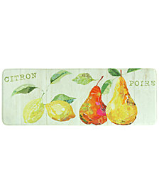 "Bacova Kitchen, Citron Et Poire 20"" x 55"" Memory Foam Rug"