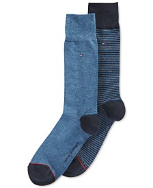 Tommy Hilfiger Striped Dress Socks, 2 Pack