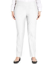 Plus Size Short Length Cambridge Tummy-Control Pull-On Pants, Created for Macy's