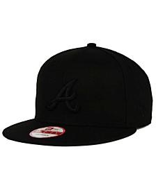 Atlanta Braves MLB Black on Black 9FIFTY Snapback Cap