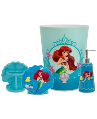 Wonderful Little Mermaid Bath Accessories Collection   Bathroom Accessories   Bed U0026  Bath   Macyu0027s