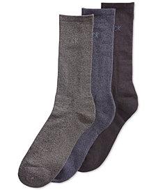 Calvin Klein Men's 3-Pack Cotton Cushion Sole Socks