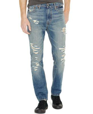 Levi's® 511™ Slim Fit Ripped Jeans - Jeans - Men - Macy's