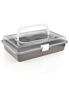 "Martha Stewart Collection Nonstick 9"" x 13"" Cake Pan With Carrier, Created for Macy's"