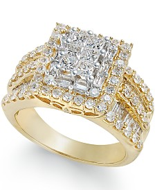 Diamond Cluster Ring (2 ct. t.w.) in 14k Gold