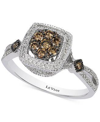 Le Vian Chocolatier 174 Chocolate Deco Estate Diamond Ring