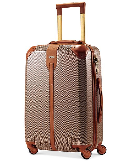 """Hartmann CLOSEOUT! 60% off Herringbone Luxe Hardside 22"""" Carry On Spinner Suitcase"""
