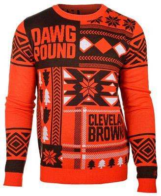 Forever Collectibles Mens Cleveland Browns Patches Christmas