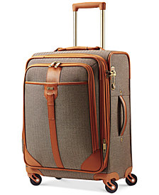 "CLOSEOUT! Hartmann Herringbone Luxe 21"" Expandable Carry On Spinner Suitcase"
