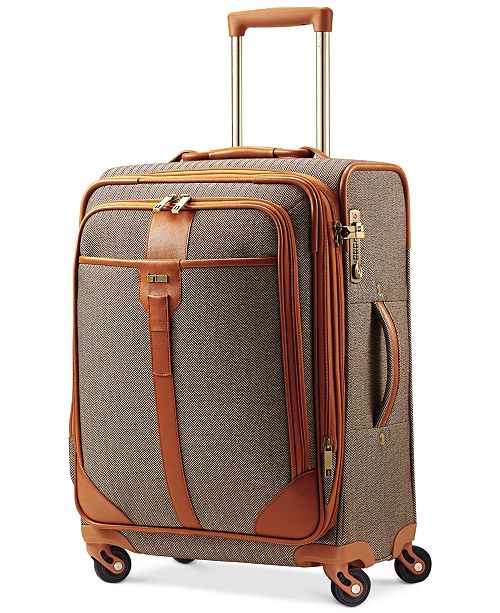 "Hartmann CLOSEOUT! Herringbone Luxe 21"" Expandable Carry On Spinner Suitcase"