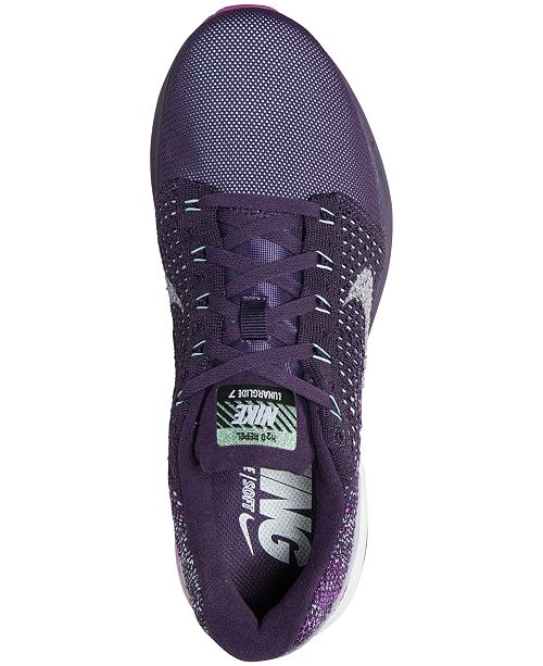 new arrival 4a56d 5104d ... Nike Women s LunarGlide 7 Flash Running Sneakers from Finish ...
