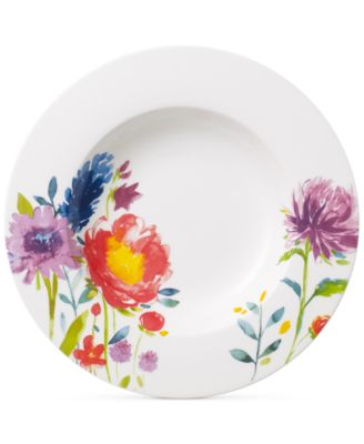 Amnut Flowers Collection Bone China Rim Soup Bowl