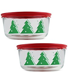 Pyrex 4-Pc. Christmas Tree Storage Set, Created for Macy's