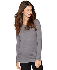 A Pea in the Pod Maternity Ribbed Long-Sleeve Top
