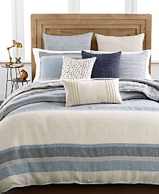 Hotel Collection Linen Stripe Full Queen Duvet Cover Created For Macy S