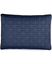 Embroidered Frame Quilted Standard Sham, Created for Macy's
