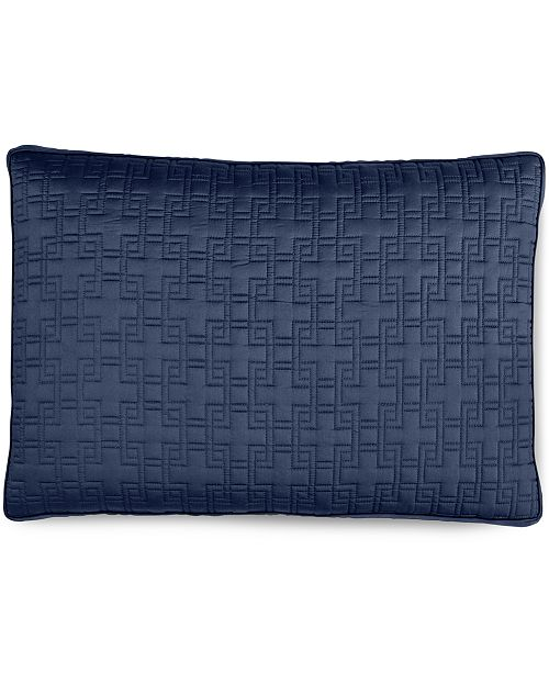 Hotel Collection Embroidered Frame Quilted King Sham, Created for Macy's