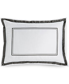 Hotel Collection Pair of Embroidered Frame King Shams, Created for Macy's