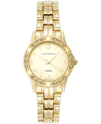 Image of Charter Club Women's Gold-Tone Stainless Steel Bracelet Watch 31mm 16859 - Only at Macy's