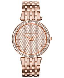 Women's Darci Rose Gold-Tone Stainless Steel Bracelet Watch 39mm MK3439