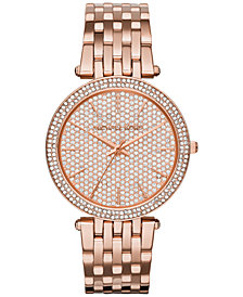Michael Kors Women's Darci Rose Gold-Tone Stainless Steel Bracelet Watch 39mm MK3439