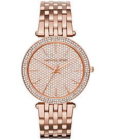 Michael Kors Women's Darci Rose Gold-Tone Stainless Steel Bracelet Watch 39mm MK3439