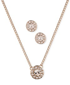 "Givenchy Necklace and Earring Set, 16"" + 3"" Extender"
