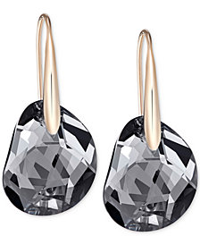 Swarovski Galet Rose Gold-Tone & Faceted Crystal Earrings