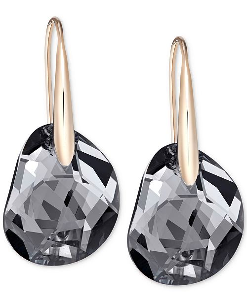 9e5151329 ... Swarovski Galet Rose Gold-Tone & Faceted Crystal Earrings ...