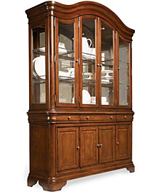 Closeout! Bordeaux China Cabinet