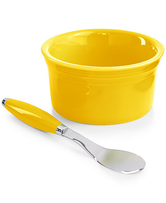 Fiesta 2 Piece Sunflower Dip Bowl And Spreader Set