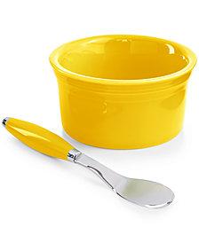 Fiesta 2-Piece Sunflower Dip Bowl and Spreader Set