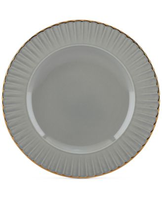 Dinnerware Ironstone Shades of Grey Accent Plate