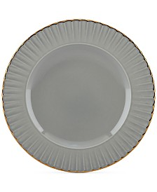 Marchesa by Lenox Dinnerware Ironstone Shades of Grey Accent Plate