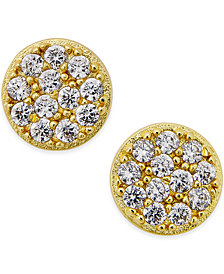 Giani Bernini Cubic Zirconia Stud Earrings (2/5 ct. t.w.) in 18k Gold over Sterling Silver