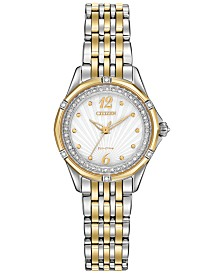 Citizen Women's Signature Versailles Diamond Accent Two-Tone Stainless Steel Bracelet Watch 30mm EM0374-50A