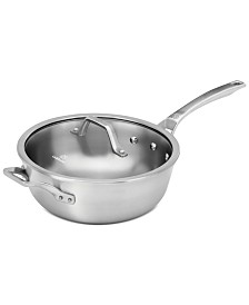 Calphalon Signature Stainless Steel 4 Qt. Chef Pan with Cover